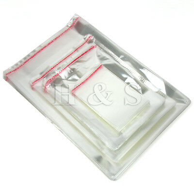 100 x A4 Clear Cellophane Cello Bags Card Display Self Adhesive Seal Plastic OPP
