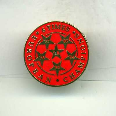 Red  6 Times European Champions  Liverpool  Fc     Football Pin Badge