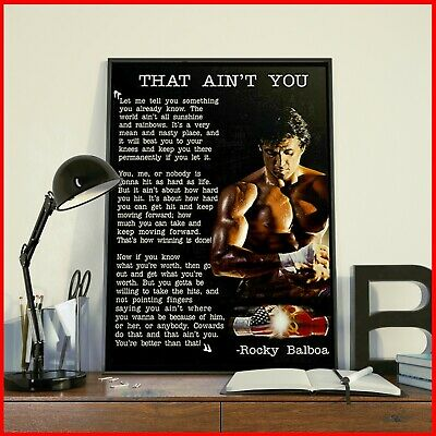 Rocky Balboa Poster That Ain't You Motivational Quote Gym Decor Typography Poste
