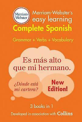 Merriam-Webster's Easy Learning Complete Spanish (English) Paperback Book Free S