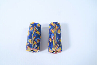 2 Millefiori Glasperlen AS65 Old Venetian African Trade Beads Murrine Afrozip
