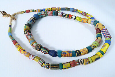 Alte Glasperlen Handelsperlen Mix Murano AS76 Old Venetian African Trade Beads
