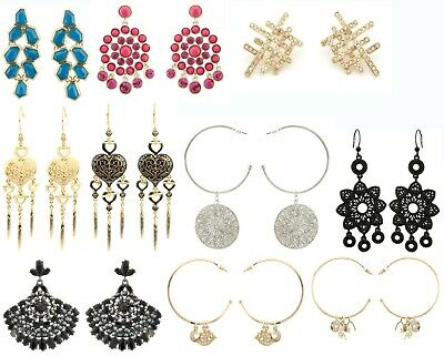 100 Pairs Earrings Many with Swarovski Elements in 10 Different Designs