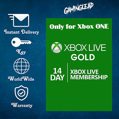 XBOX LIVE 14 Day GOLD Trial Membership Code (Xbox One Only - Instant Dispatch)!!