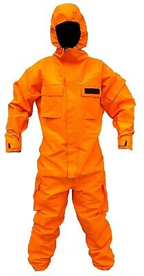 Orange Remploy Civil Responder Peeler Waterproof Coverall Army Grade A