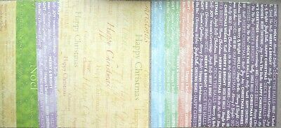 4 x A4 Backing Card 250gsm Christmas Sentiments Assorted/White on Bold NEW