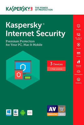KASPERSKY INTERNET SECURITY 2019 3 PC 1 YEAR | GLOBAL KEY! Limited time Sale!!!