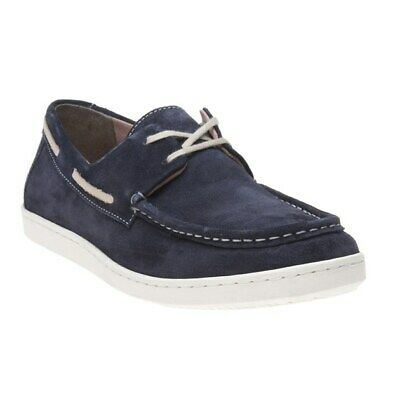 New Mens Lotus Navy Andre Suede Shoes Boat Lace Up