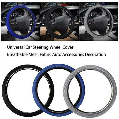 Breathable Mesh Fabric Car Van Steering Wheel Cover Auto Accessories Universal