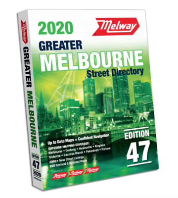 BRAND NEW 2020 Melway Greater Melbourne Street Map Directory Edition 47 Victoria