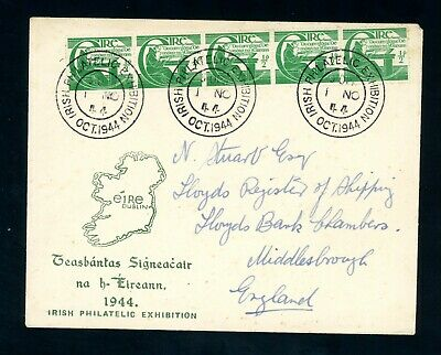 Ireland - England 1944  Illustrated Cover     (Jy888)