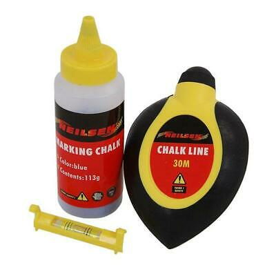 CT0554 30 Metre Chalk Line Reel / Layout with Chalk & Line Level