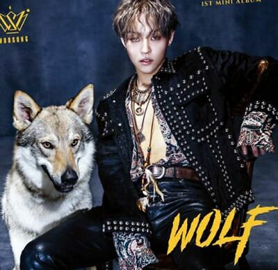 THE ROSE KIM WOOSUNG: Wolf* CD+Full Package Poster (J&STAR) Album K-POP New