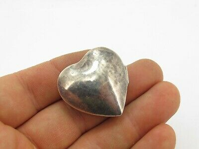 Vintage Sterling Silver 925 Love Heart Pill Box