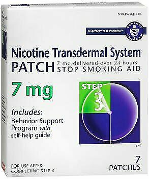 Habitrol Nicotine Transdermal System Patch 7 mg Step 3 - 7 ct Pack of 6