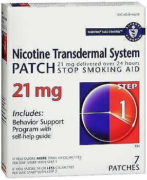 Habitrol Nicotine Transdermal System Patch 21 mg Step 1 - 7 ct Pack of 6