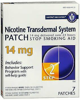 Habitrol Nicotine Transdermal System Patch 14 mg Step 2 - 7 ct Pack of 6