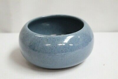 Arts Crafts Peters Reed Blue Speckled Art Pottery Bowl Planter