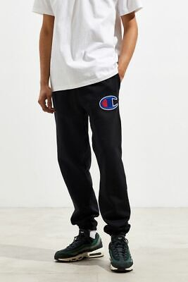 NEW Champion Reverse Weave Banded Bottom Sweatpant Black