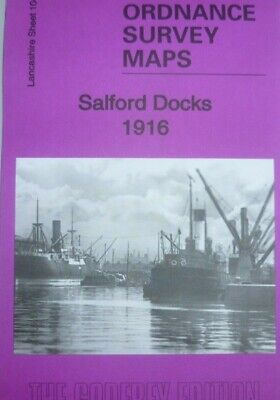 Old Ordnance Survey Maps Salford Docks Lancashire 1916 Godfrey Edition