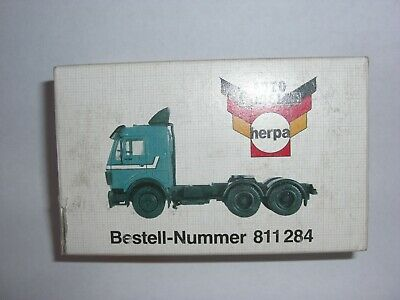 Ho Scale Vintage Herpa  West German Daimler Benz 2638S Green Lorry Tractor Rig