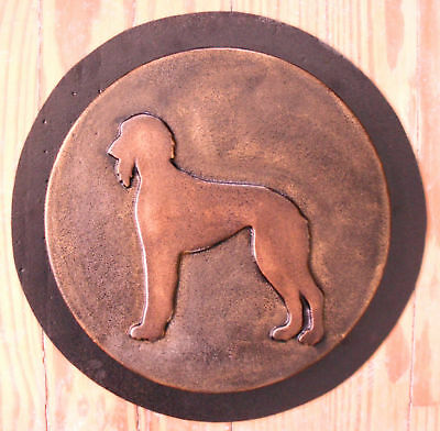 Saluki dog stepping stone mold mould plaster concrete mould