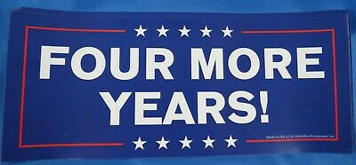 Wholesale Lot Of 20 Trump Four More Years  2020 Stickers Gop Campaign Republican