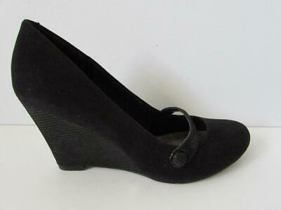 c8726d4839d EX MARKS AND Spencer Leather Wedge Heel Espadrilles Insolia® Black ...
