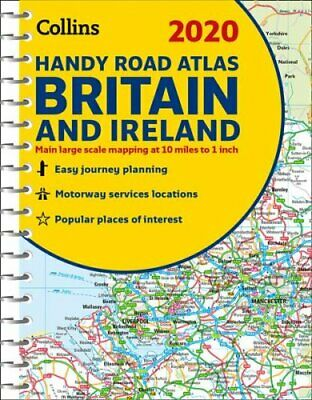 2020 Collins Handy Road Atlas Britain and Ireland by Collins Maps 9780008318710