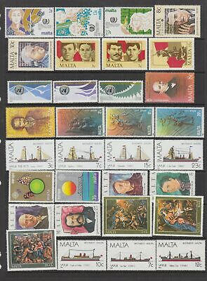 Malta 1985 - 1989  MNH collection, 58 stamps + 2 Miniature Sheets