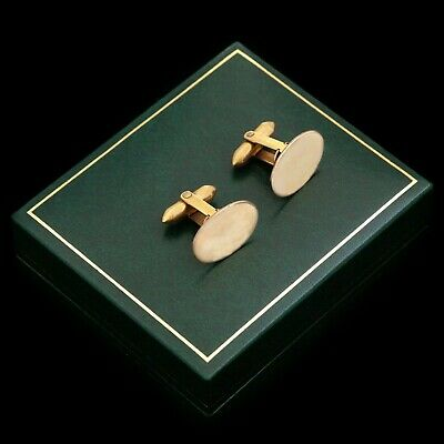 Antique Vintage Deco 14k Yellow Gold Filled GF Geometric Mens Cufflinks Earrings