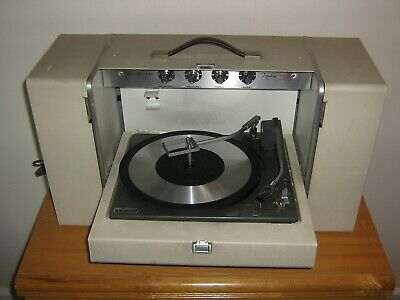 G.e. General Electric Trimline 500 Vintage Turntable With Detachable Speakers