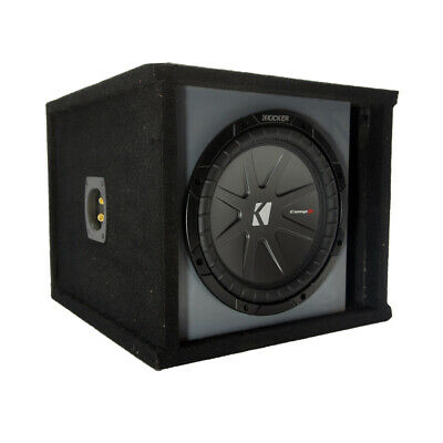 """Kicker 40CWR102 CompR 10"""" Subwoofer with Paintable Box"""