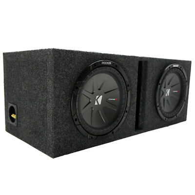 """Kicker 40CWR102 CompR 10"""" Subwoofers with Vented Box"""