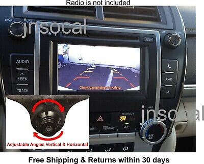 Plug & Play Backup Rear View Camera Kit For 2012 - 2014 Toyota Camry, Prius