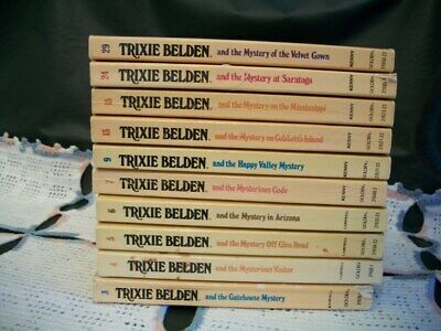 Trixie Belden Mysteries Lot of 10 Oval Paperback (3,4,5,6,7,9,13,15,24,29)