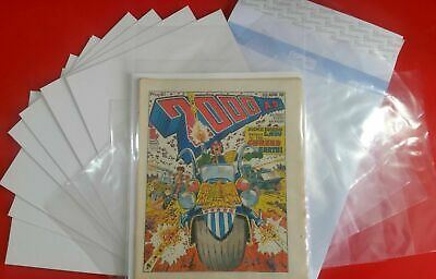 2000AD Judge Dredd Prog comic BAGS &  BOARDS for your issues x10 1st Rate New
