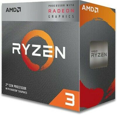 NEW! Amd Ryzen 3 3200G 3.6GHz 65W 4C/4T AM4 APU with Radeon Vega 8 Graphics