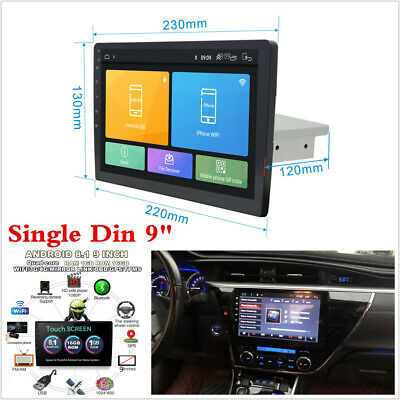 Android 8.1 9inch 1Din Touchscreen Car Stereo Radio GPS Mirror Link OBD BT 1+16G