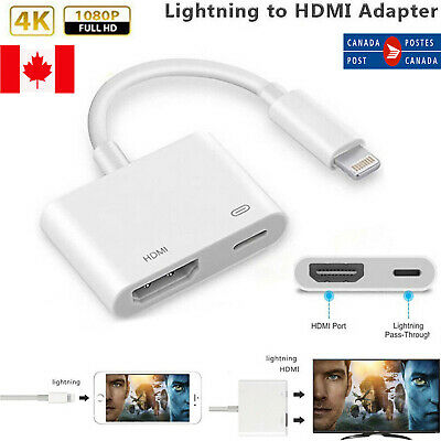 Digital Lightning to HDMI AV Adapter Cable for HDTV Monitor Projector iPhone X
