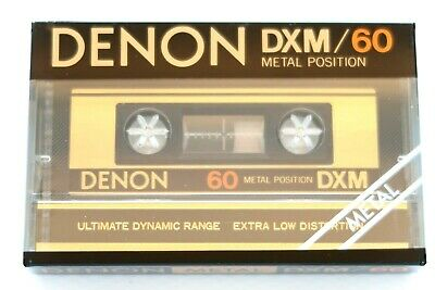 Denon Dxm 60 Metal Position Type Iv Blank Audio Cassette - Japan 1981