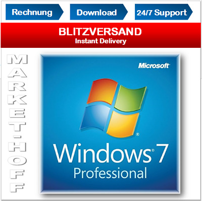 Windows 7 Professional OEM, 32&64 Bits, Win 7 Pro