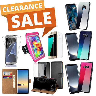 234x CLEARANCE SALES SAMSUNG Phone Wallet Case Bumper Screen Protector UK