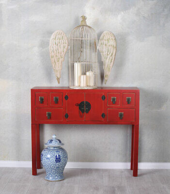 China Console Red Wall Side Table Feng Shui Furniture Sideboard Dresser
