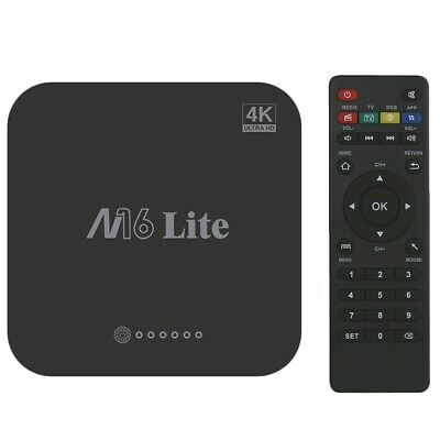 M16 Lite Android Smart Box TV Ddr3 Emmc Rom Set Top Box 4K 3D H.265 Wifi Le O4M5