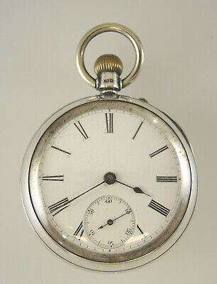 English Silver Pocket Watch Chester 1892