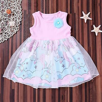 Pretty Newborn Kids Baby Girls Floral Horse Pageant Party Tulle Tutu Dress GL