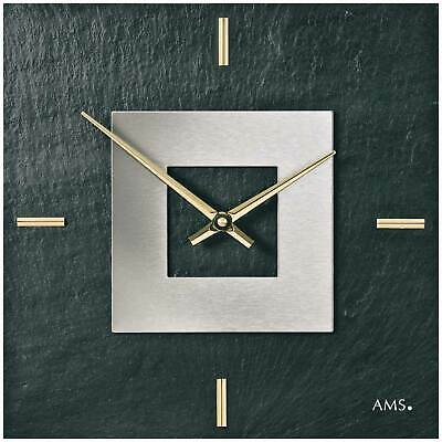 AMS 9525 - Wall Clock - Slate - Quiet Clock - New