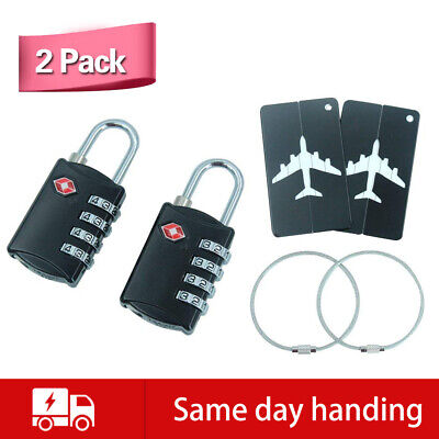 TSA Approve Luggage Travel Suitcase Bag 2 Pack Travel Digit Locks with 2 Cards