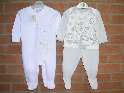 BNWT NEXT & DISNEY Boys Bundle 2 x Outfits Tops Trousers Age 3-6m NEW